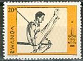 Timbre: Jeux olympiques de Moscou (Gymnastique) ***