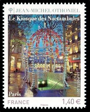 Timbre: Le Kiosque des Noctambules - Jean-Michel Othoniel