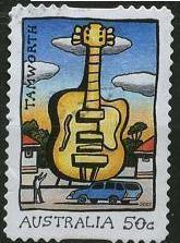 Timbre: Grands objets, Tamworth guitare, adhesif
