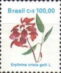 timbre: Fleur, Erthrina crista-galli