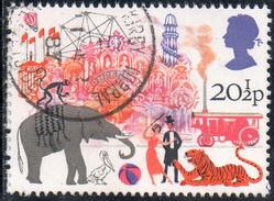 Timbre: Attractions de foire -Elephant et tigre