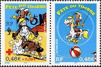 Timbre: Lucky Comics - paire