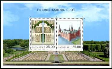 Timbre: Château de Frederiksborg - Frederiksborg Slot   Le Bloc