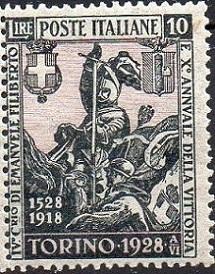 Timbre: 400 ans d'Emmanuel-Philibert de Savoie