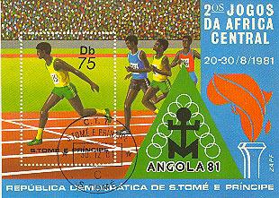 timbre: 2emes jeux d'afrique centrale
