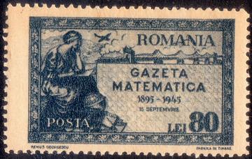 timbre: 50 ans de la Revue Mathématique