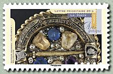 Timbre: Art gothique Orfèvrerie - Reliquaire x2
