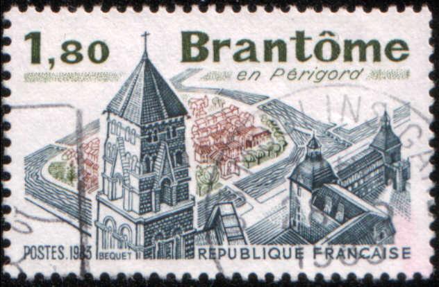 Timbre: Brantôme en Périgord