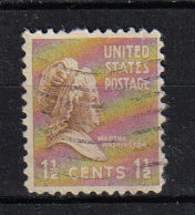 Timbre: Martha Washington (nd a gauche)