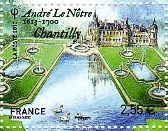 Timbre: Jardins de France - Chantilly