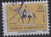 Timbre: Statue équestre d'Atatürk