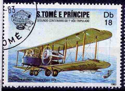 Timbre: Avion Vickers Vimy