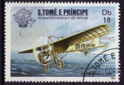 Timbre: Bicentenaire du premier vol : Monoplan Blériot