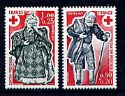 Timbre: Croix Rouge - La Paire