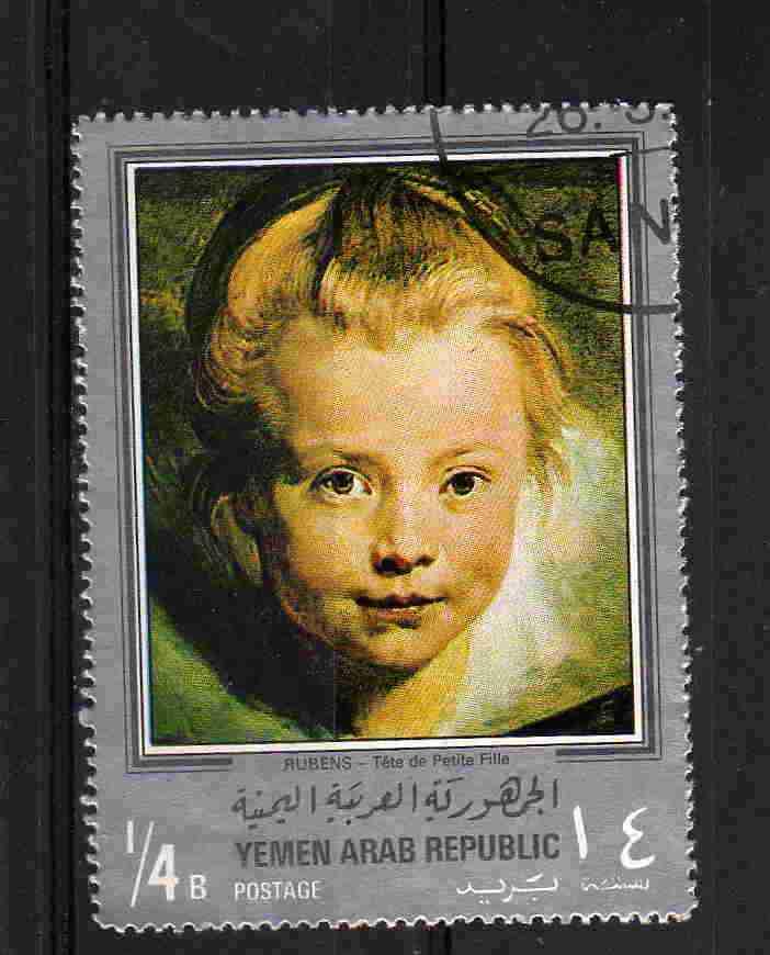 Timbre: Rubens: Tête de petite fille