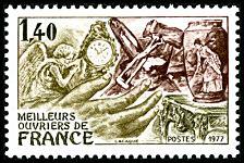 Timbre:  Meilleurs Ouvriers de France