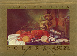 Timbre: ''Nature morte au homard'',de Jean Heem