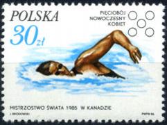 Timbre: Pentathlon moderne féminin-nageuse
