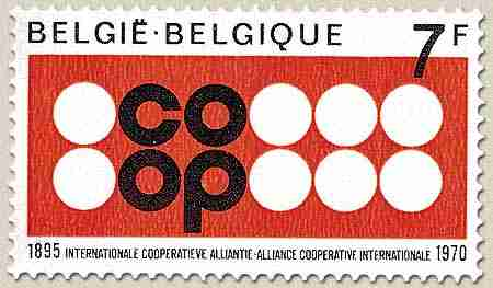 Timbre: 75 ans alliance cooperative internationale