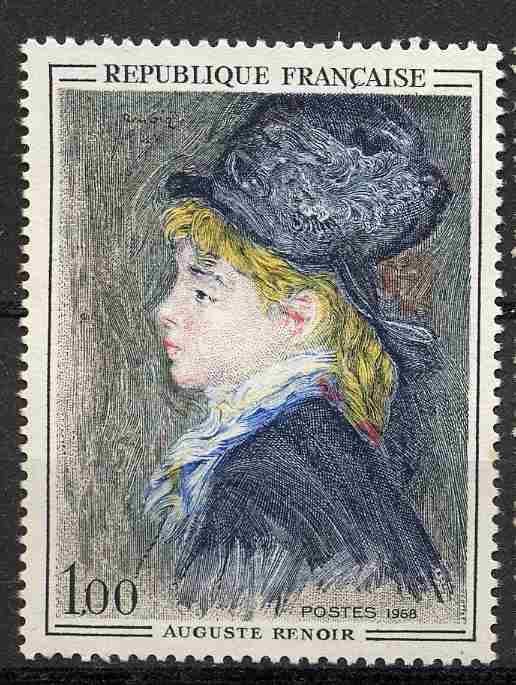 Timbre: Modèle d'Auguste Renoir