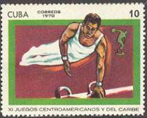 timbre: XIe jeux centraméricains. Gymnastique