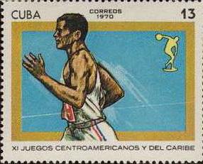timbre: XIe jeux centraméricains. Athlétisme