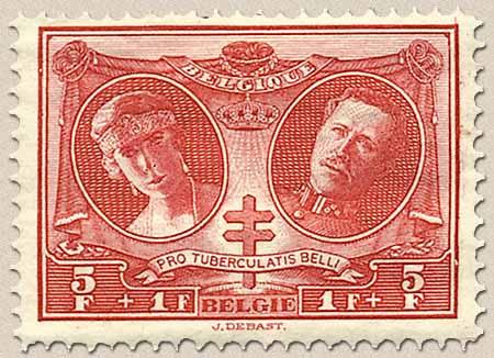 Timbre: Reine Elisabeth et Albert 1er