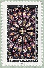 Timbre: Vitrail de Paris (Notre-Dame)