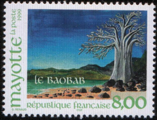 Timbre: Le baobab