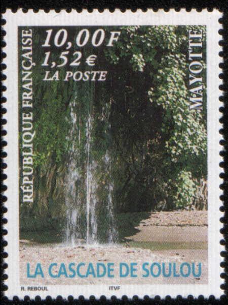 Timbre:  La cascade de Soulou