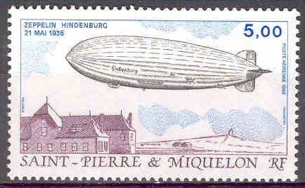 timbre: SPM - Transports aériens -PA