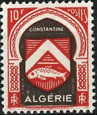 timbre: Armoiries de Constantine x 8