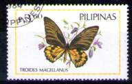 timbre: Papillon : Troides magellanus (x1)