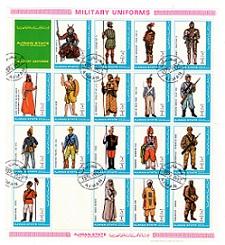 timbre: Soldats -grand format (18 timbres) (x1)