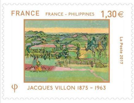 timbre: France-Philippines - Jacques Villon