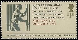 timbre: 800 anniv de la magna carta