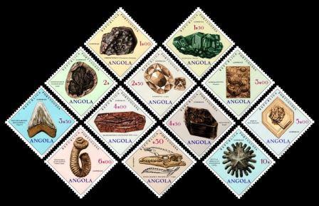 timbre: Minéraux & fossille [Série]