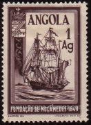 timbre: Centenaire de Mocamedes bateau
