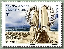 Timbre: Canada-France Vimy 1917/2017