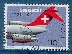 Timbre: 50 ans de Swissair