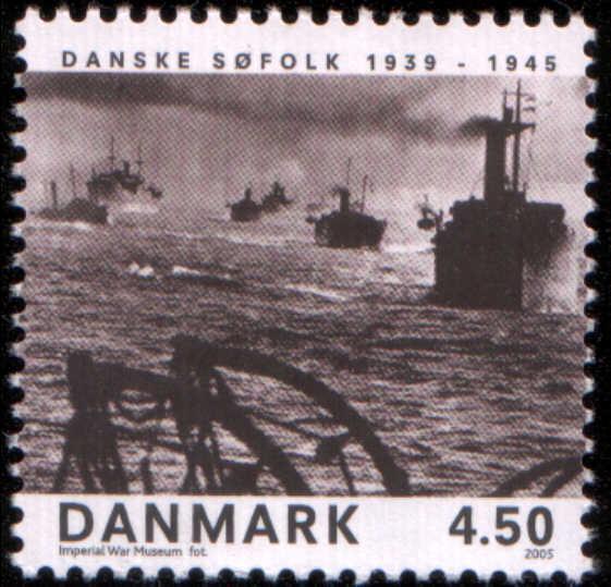 Timbre: Marine danoise pendant la 2e Guerre Mondiale