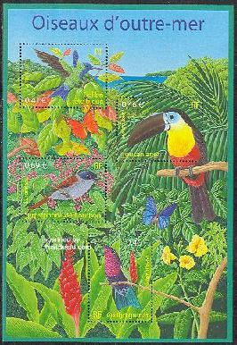 Timbre: Oiseaux d'outre-mer