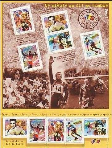 Timbre: Le siècle au fil du timbre: Sport