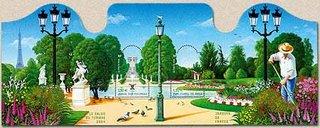 Timbre: Bloc les jardins de france