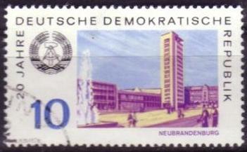Timbre: 20 ans RDA : Neubrandenburg