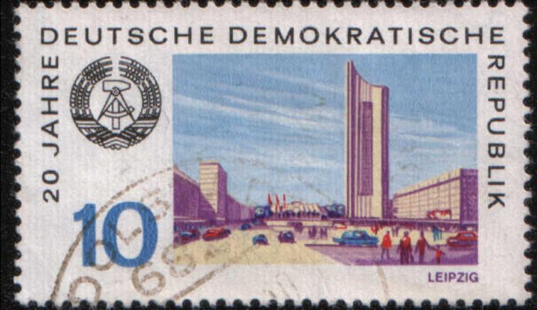 Timbre: 20 ans de la RDA, Leipzig