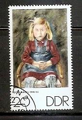 Timbre: Portrait de jeune file, par Otto Nagel