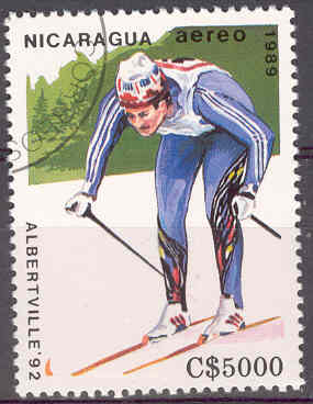 Timbre: JO Alberville, ski de fond