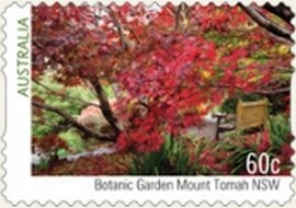Timbre: Australian Botanic Gardens   (non adhesif)