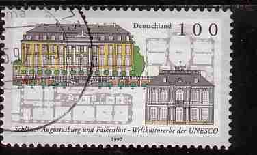 Timbre: Chateaux Augustusburg et Falkenlust